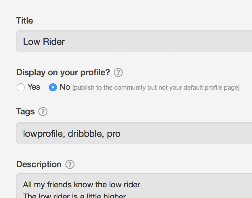 Keeping a Low Profile | Dribbble Design Blog